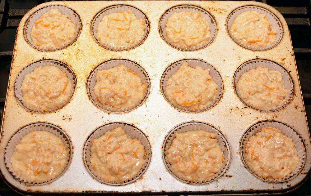 Apple Cheddar Pupcake batter