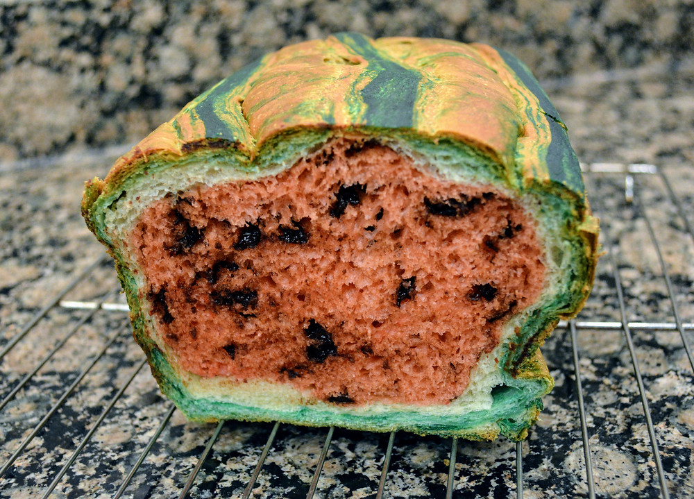 Watermelon Bread with Chocolate Chips