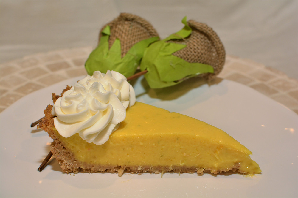 Mango Coconut Lime Tart with Coconut Whipped Cream Topping
