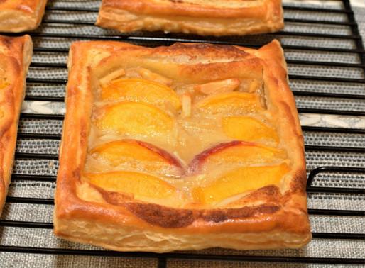 Fresh Peach Danish Pastries