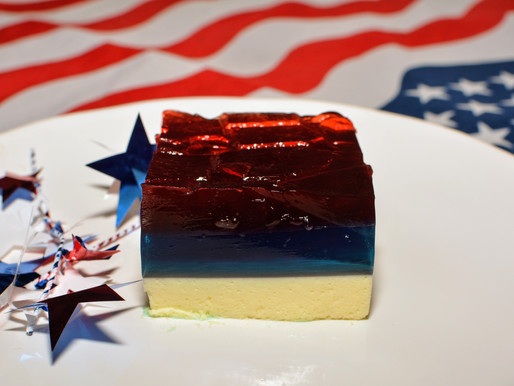 Red, White, & Blue Jell-O Cake