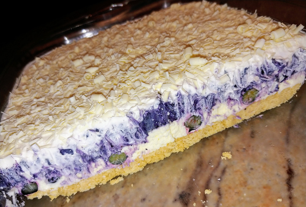 Lemon Blueberry White Chocolate Lasagna with Cookie Crust