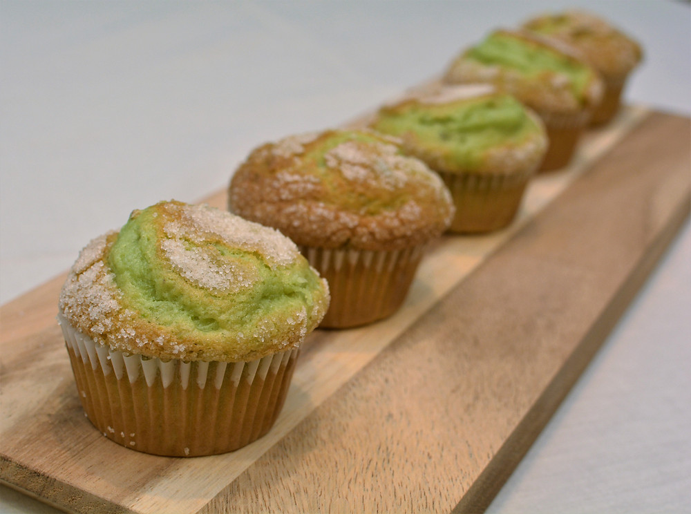Pistachio Muffins with Sugar Topping