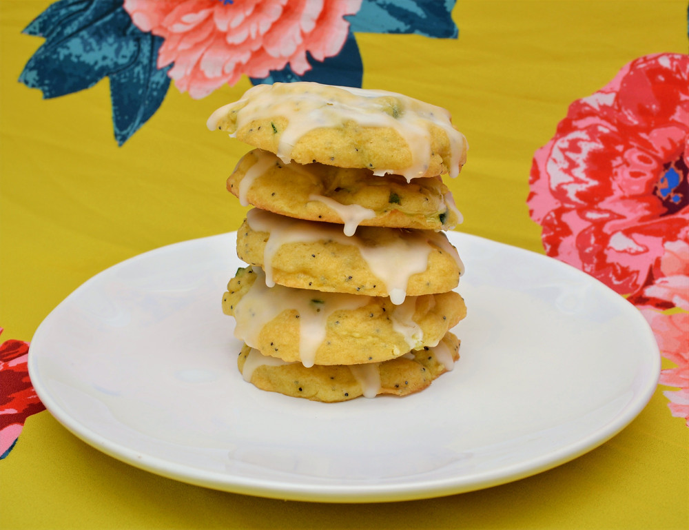Tender Lemon Poppy Seed Zucchini Cookies