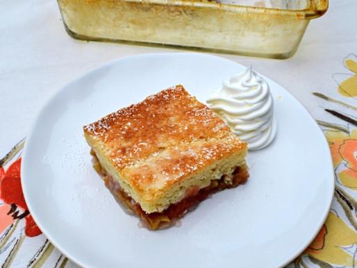 Old-fashioned Sticky Rhubarb Pudding Cake