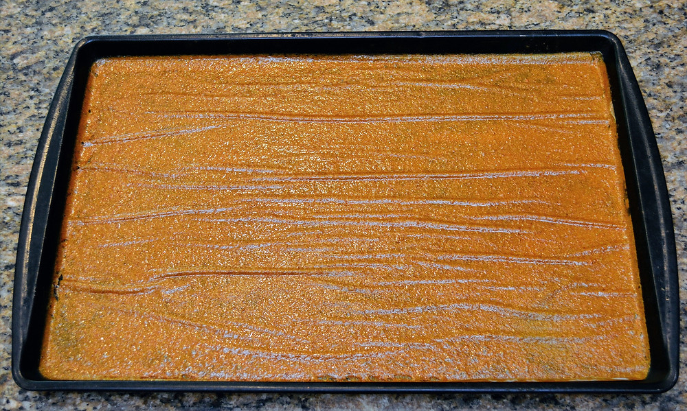 Dried Peach Fruit Leather