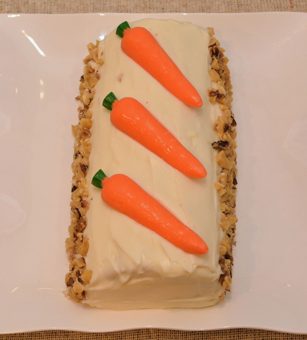 Carrot Cake Roll with Cream Cheese Frosting for Easter