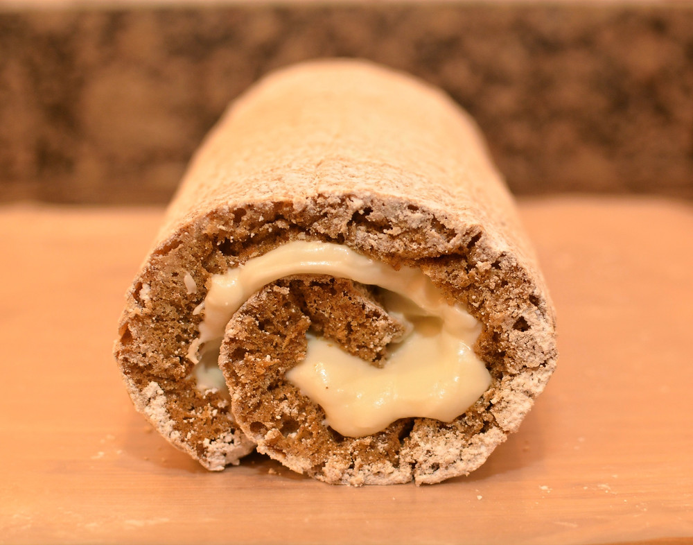 Spiced Carrot Cake Roll