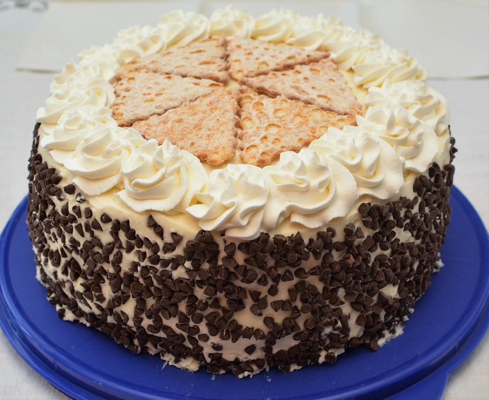 Chocolate Cannoli Cake with Mascarpone Frosting