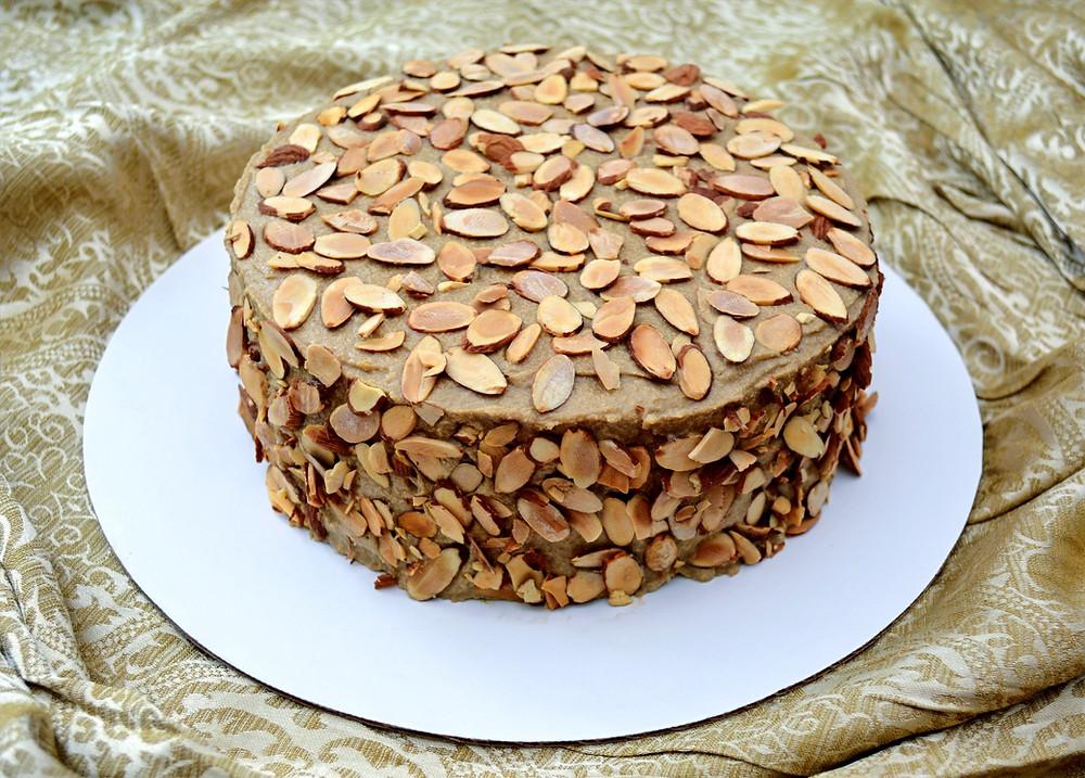 Almond Meringue Agnes Bernauer Cake with Coffee Buttercream