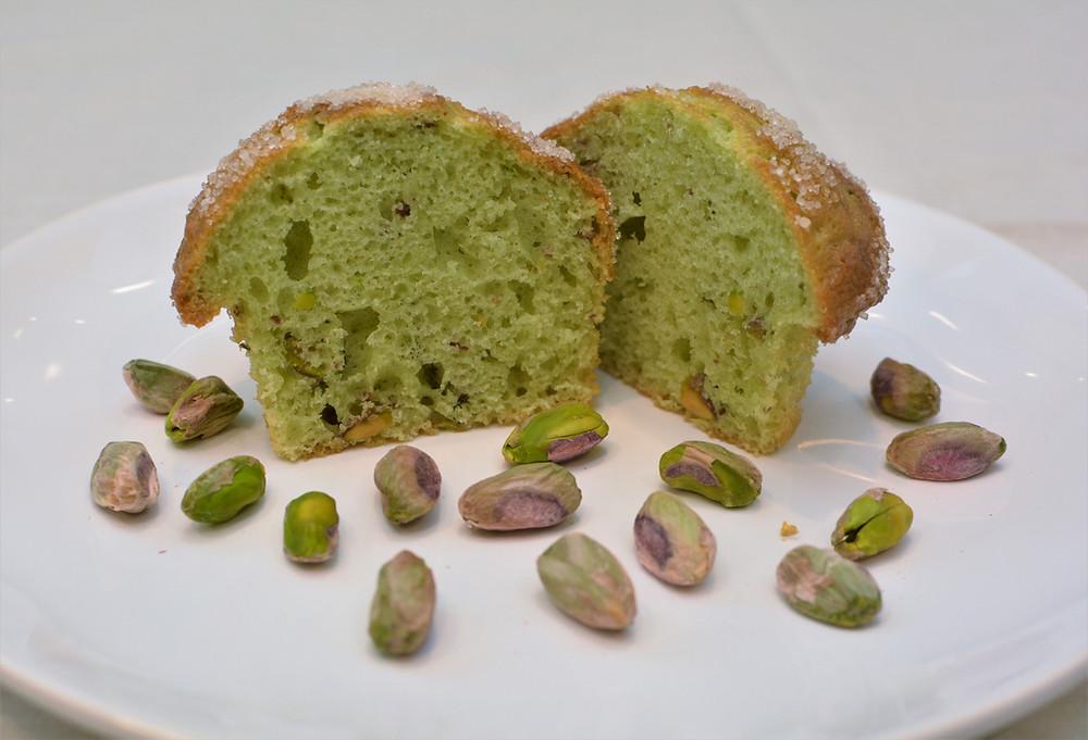 Tender Pistachio Muffins