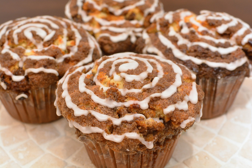 Cake-like Cinnamon Roll Muffins