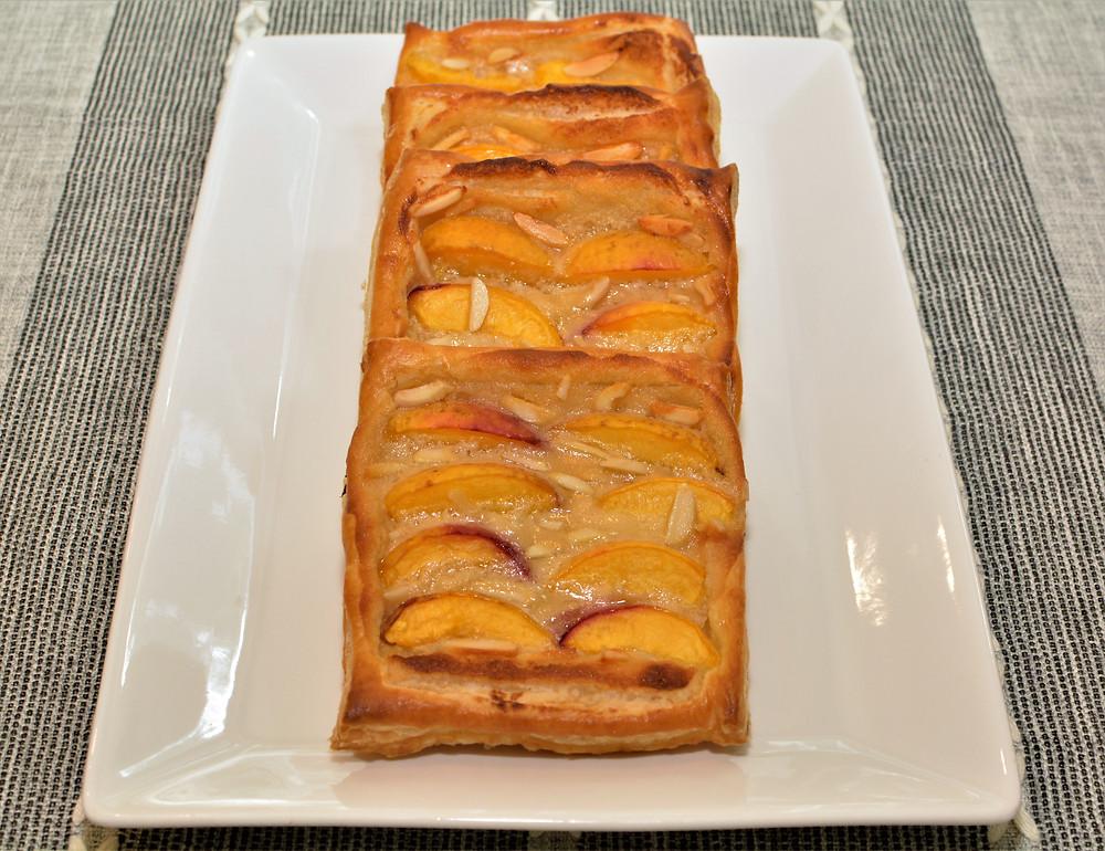 Plated Fresh Peach Danishes