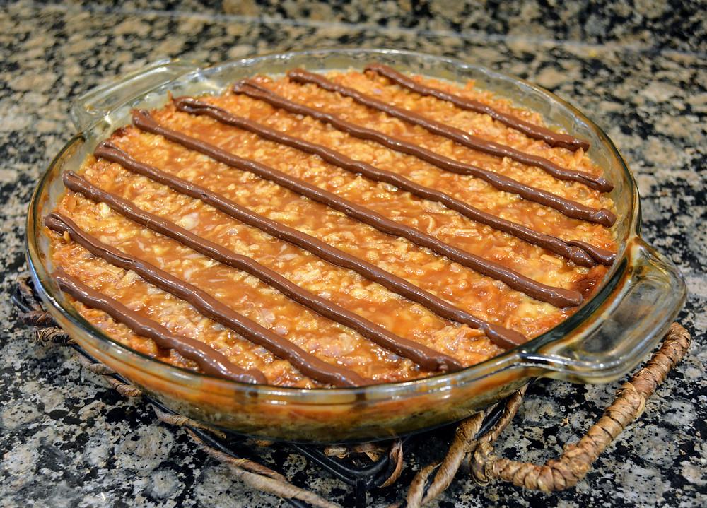 Chocolate, Coconut, Salted Caramel Samoas Pie