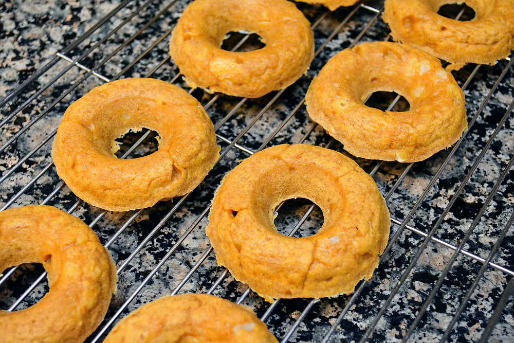 Chunky Sweet Potato Apple Doggie Donuts