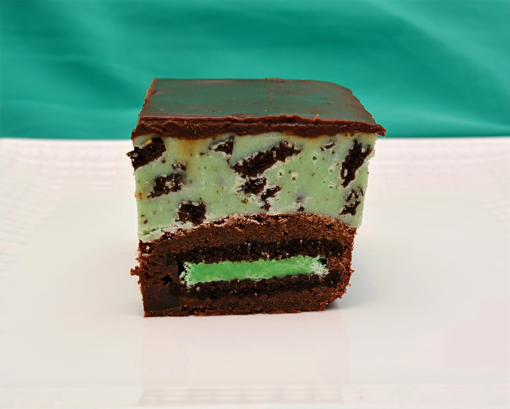 Mint Chocolate Oreo Fudge Brownies for St. Patrick's Day