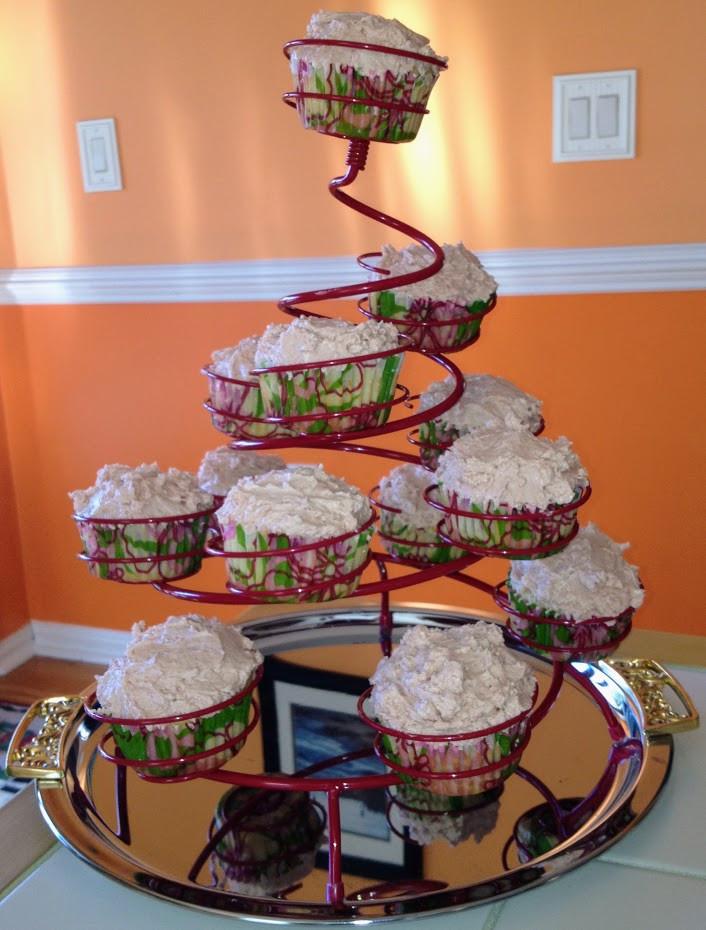 Tender, Light Fresh Peach Cupcakes with Brown Sugar Cream Cheese Frosting