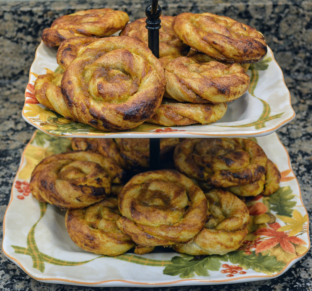 Maple Pumpkin Puff Pastry Swirls with Cinnamon Sugar Topping
