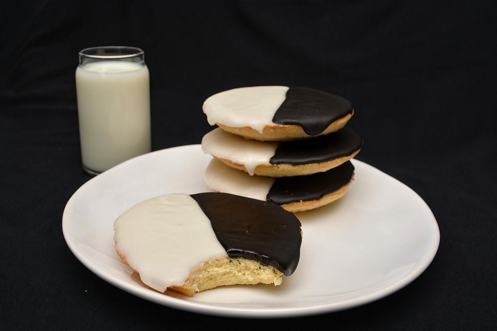 Cake-like Black and White Cookies