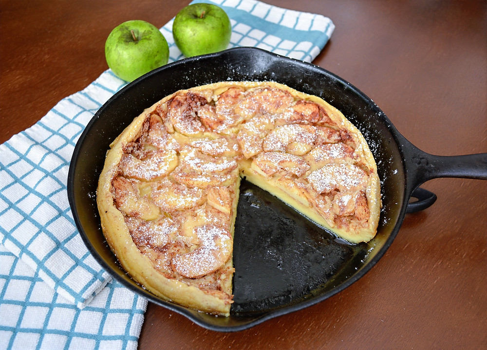 Eggy Cast Iron German Apple Pancake