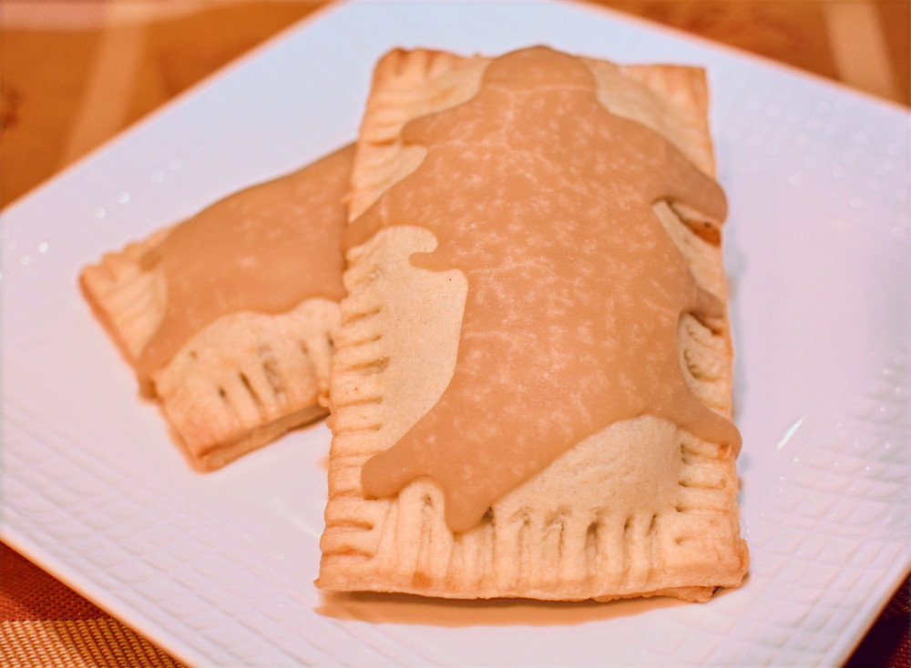 Apple Cinnamon Pop Tarts with Brown Sugar Icing