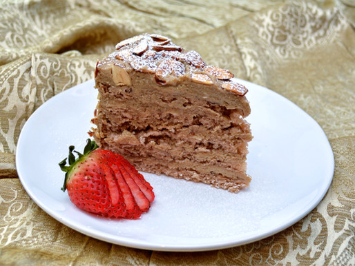 Agnes Bernauer Torte - Bavarian Almond Cake with Coffee Buttercream