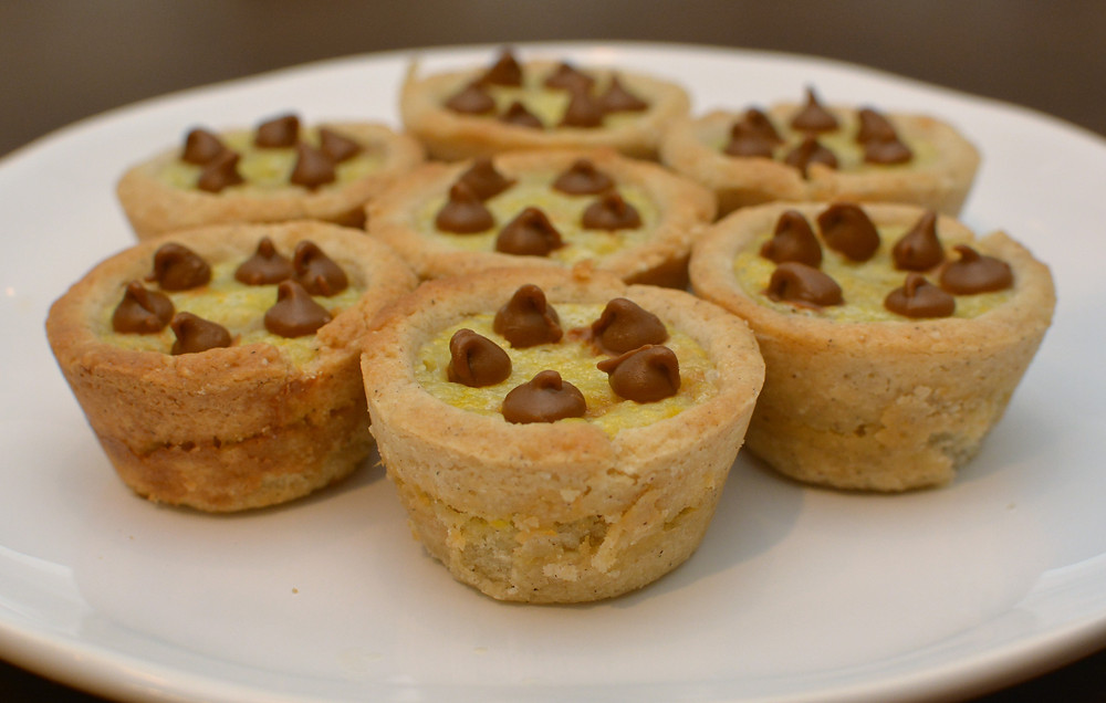 Cinnamon Chip Cream Cheese Cookie Cups Topped with Cinnamon Chips