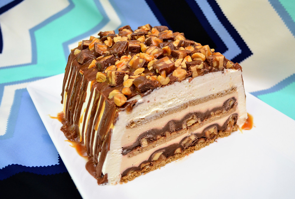 Sweet & Salty Snickers Icebox Cake