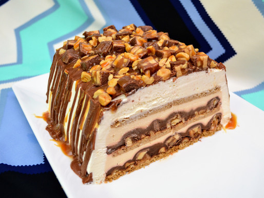 Gluten-free No-bake Snickers Icebox Cake