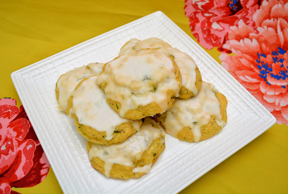 Vibrant Lemon Poppy Seed Zucchini Cookies