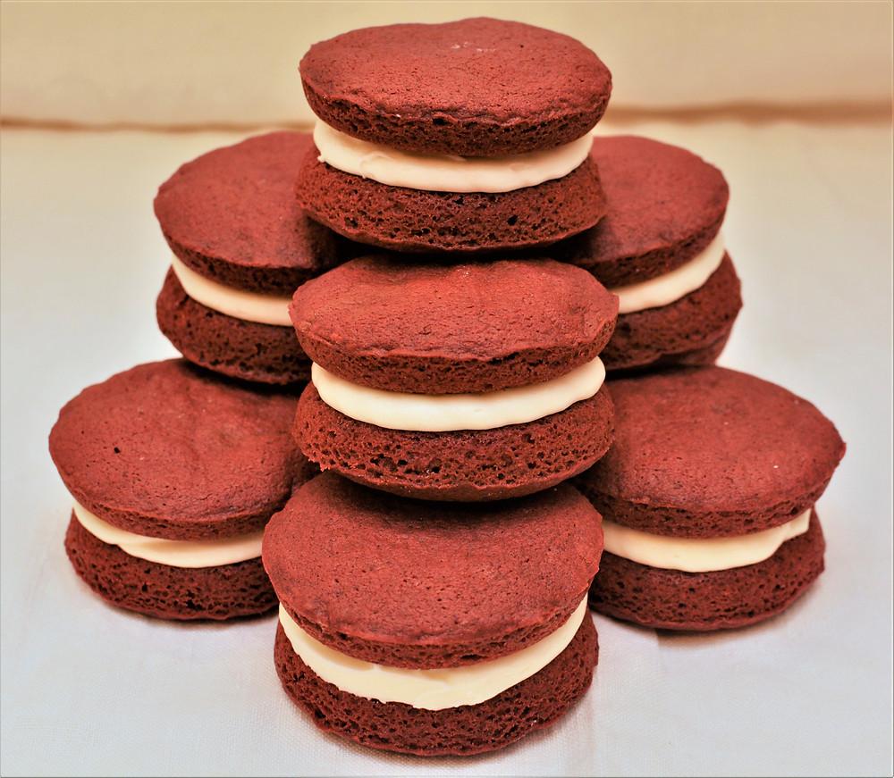 Valentine's Day Red Velvet Nutella Whoopie Pies