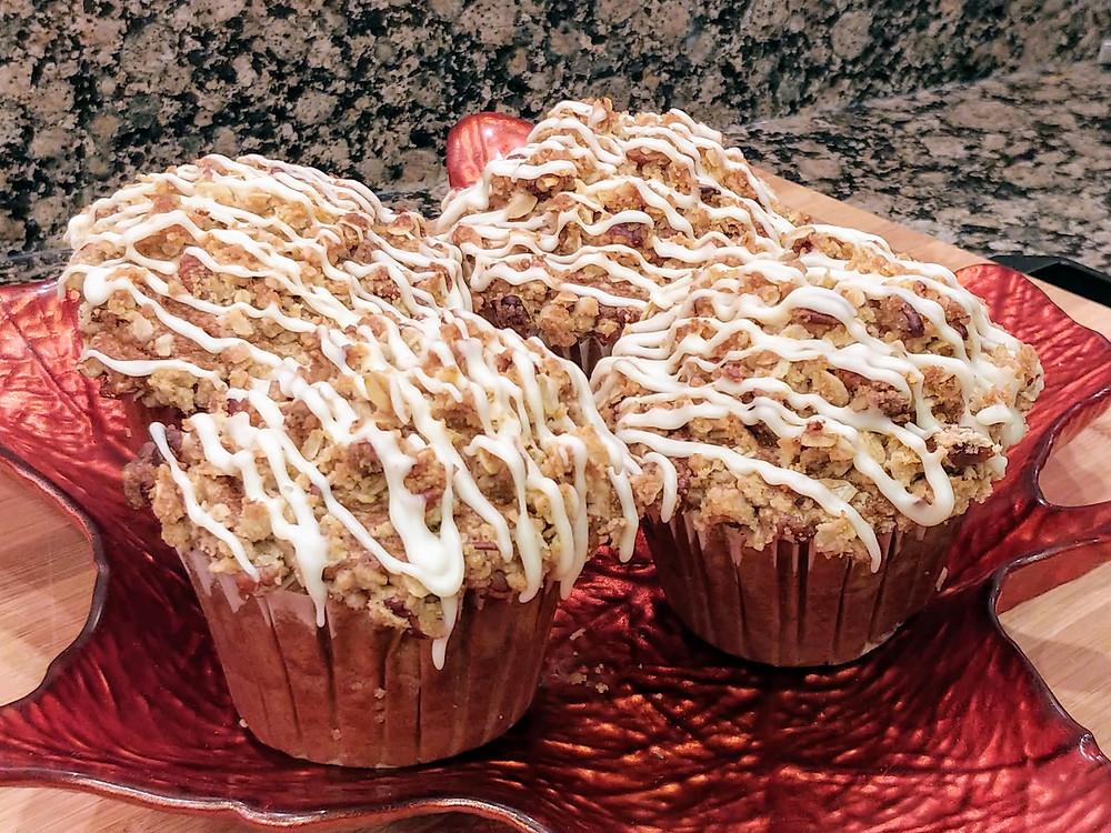 Maple Pecan Pumpkin Muffins with Pecan Streusel