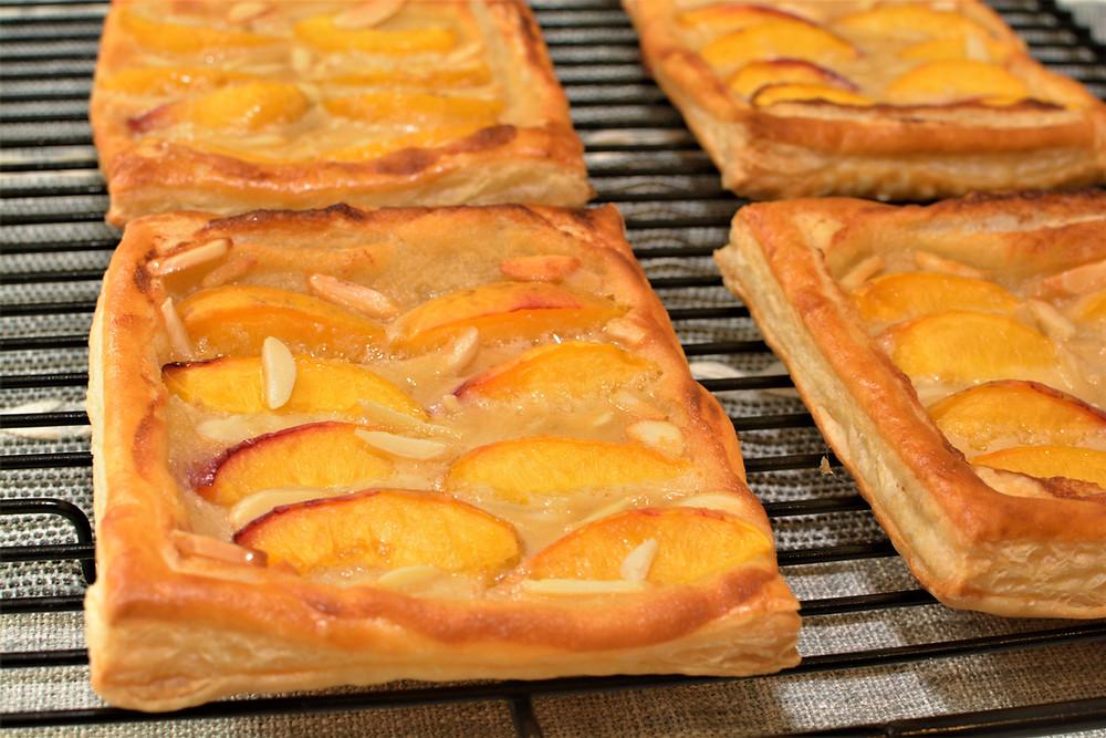 Fresh Baked Peach Danish Pastries