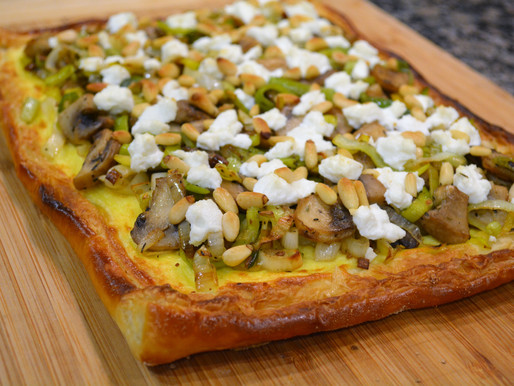 Mushroom, Leek, and Goat Cheese Tart