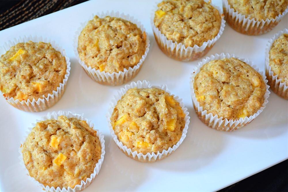 Dog-friendly Mango Oatmeal Ruffin' Muffins