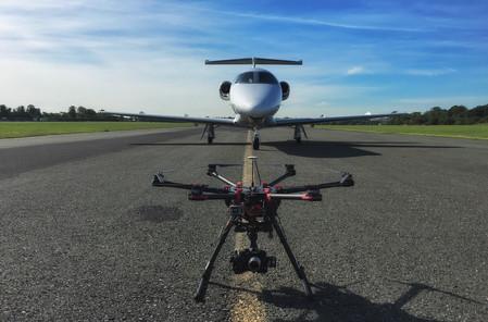 Drone Vs Jet - Weston Airport