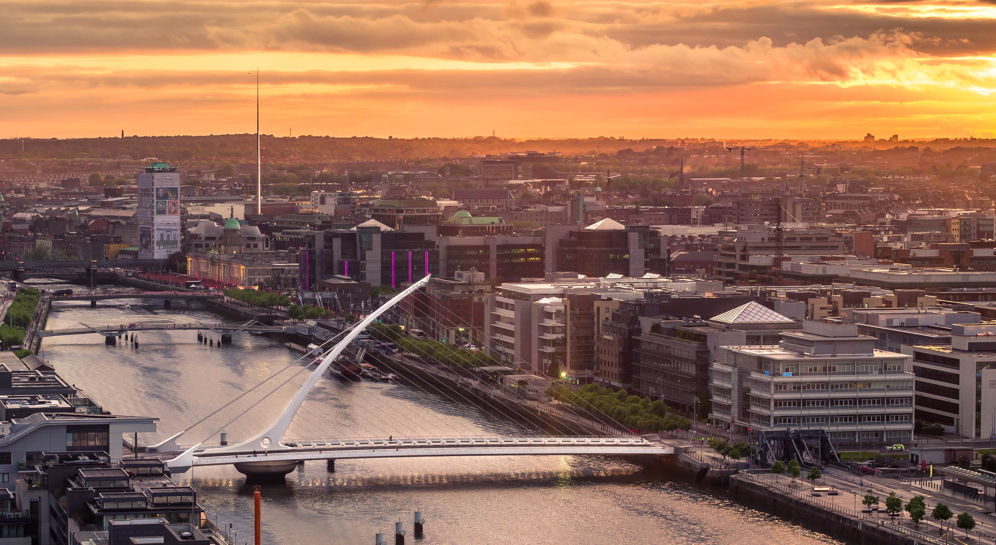 Dublin City Sunset