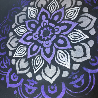 Hand painted mandala acrylic paint