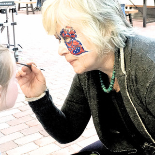 Artist Reception Face Painters: Gallery at the Creamery