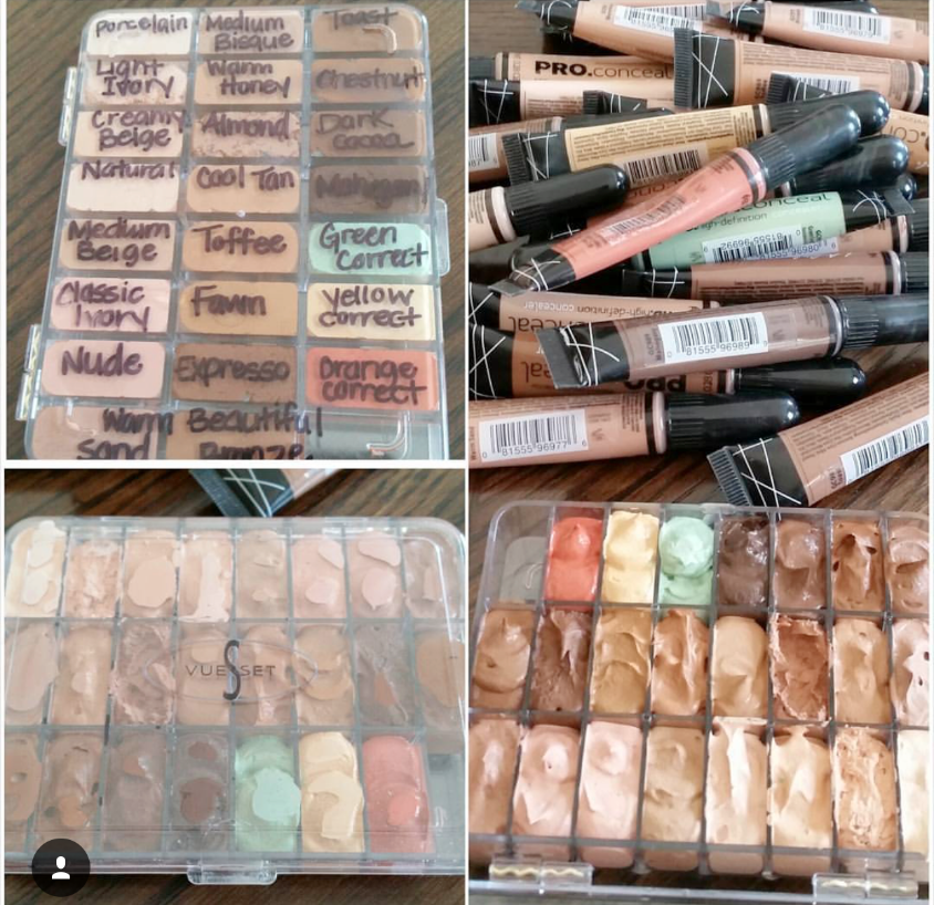 L.A. Girl Pro Concealers depotted into Vueset Palette