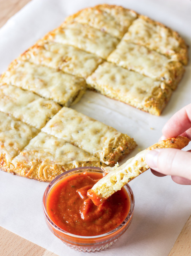 Quinoa Crust for Pizza or Cheesy Garlic Bread