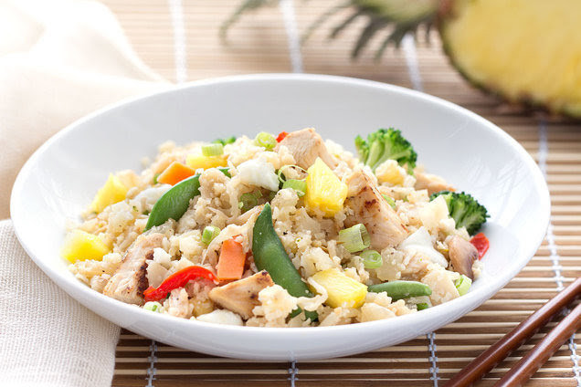 Hawaiian Chicken Cauliflower Fried Rice