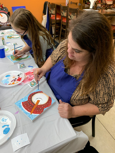Baking & Painting colaboration class with AD Artists Studio