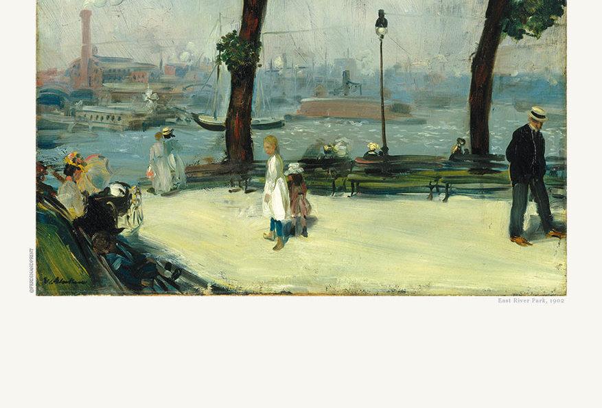 GLACKENS: East River Park, 1902