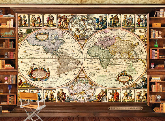 PUZZLE WORLD MAP 1500 PIECES