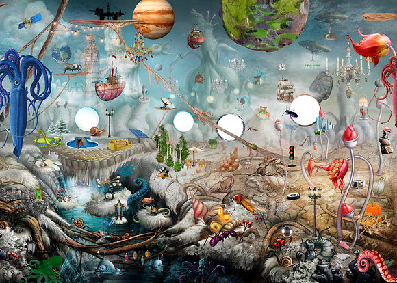 Puslespil Blæksprutte Planeten 300 brikker