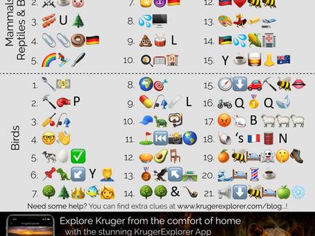 The KrugerExplorer App Lockdown Emoji Safari...!