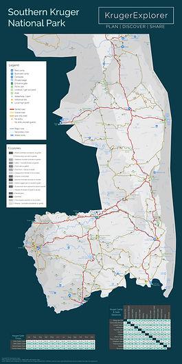 Kruger National Park map for self-drive safari