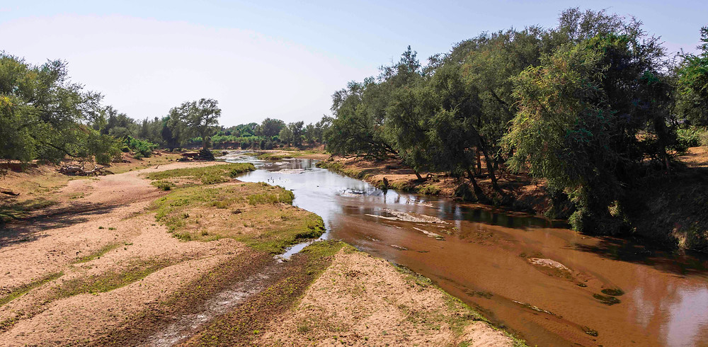 The Luvuvhu River in the Pafuri region of Kruger National Park
