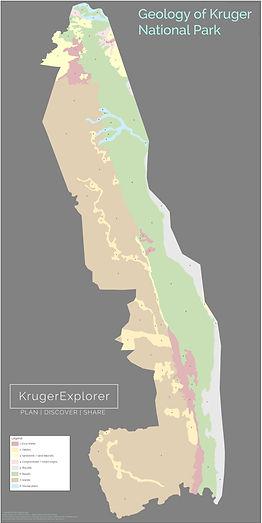 Geology of Kruger National Park map for self-drive safaris